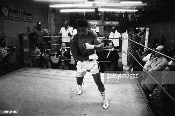 Muhammad Ali training ahead of his third fight with Ken Norton 23rd September 1976