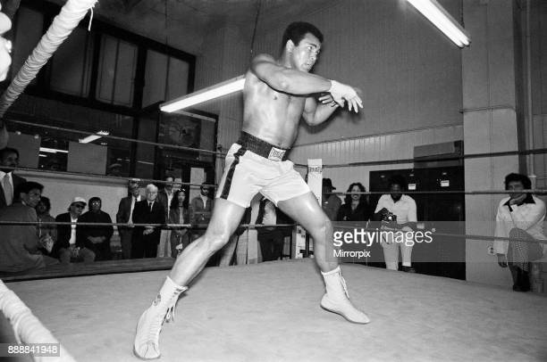 Muhammad Ali training at Gleason's Gym in New York for his World Heavyweight Title fight with Ken Norton at the Yankee Stadium 27th September 1976