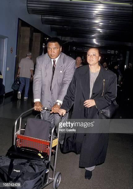 Muhammad Ali wife during Muhammad Ali Sighting at Los Angeles International Airport at Los Angeles International Airport in Los Angeles CA United...