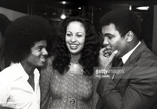Muhammad Ali wife Veronica and Michael Jackson