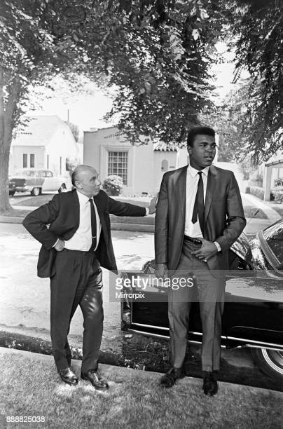 Muhammad Ali with Daily Mirror reporter Donald Zec 31st August 1967