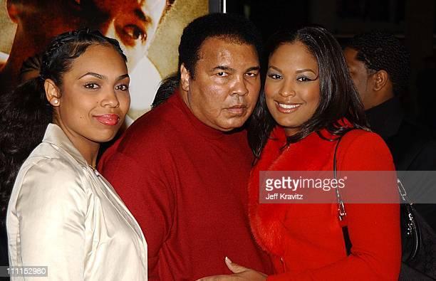 Muhammad Ali with daughters Hana Ali and Laila Ali