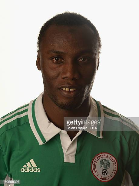 Muhammad Gambo of Nigeria poses for a portrait at Cesar business hotel on June 16 2013 in Belo Horizonte Brazil