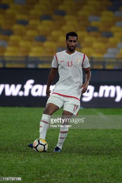 Muhammad Izzdin Shafiq of Oman in action during the Airmarine Cup final between Singapore and Oman at Bukit Jalil National Stadium on March 23 2019...