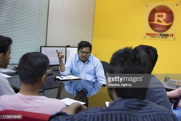Muhammad Noor The Co Founder Of Rohingya Vision Tv Have A Discussion News Photo Getty Images