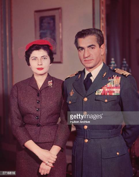 Muhammad Reza Pahlavi the Shah of Iran with his second wife Queen Soraya whom he divorced for failing to produce an heir