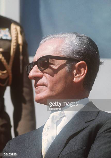 Muhammad Reza Shah Pahlavi of Iran in 1971