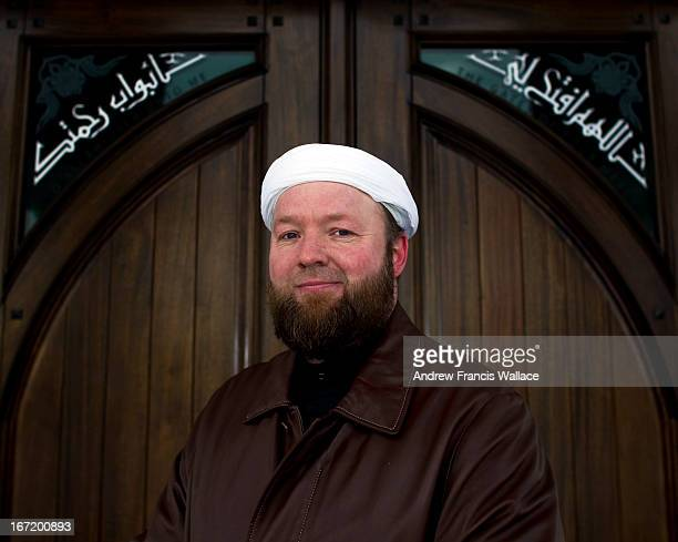 Muhammad Robert Heft who works with troubled Muslim youth poses outside the Jam'e Masjid Markham mosque