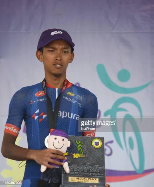Muhammad Shaiful Adlan Mohd Shukri of Malaysia/Team Sapura Cycling finishing second the fourth stage of the 10th 'Le Tour de Filipinas 2019' a 176km...