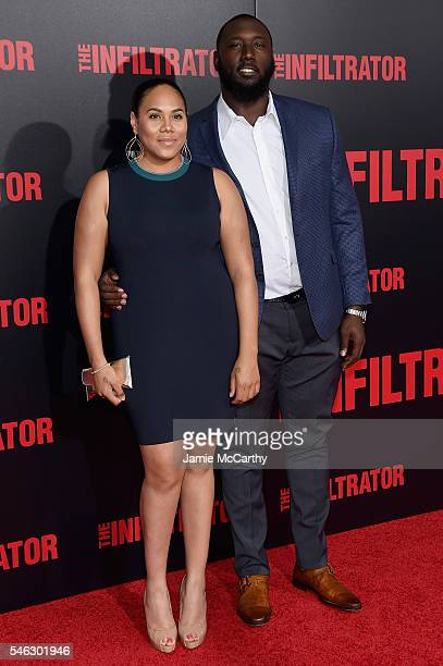 Muhammad Wilkerson and guest attend the The Infiltrator New York premiere at AMC Loews Lincoln Square 13 theater on July 11 2016 in New York City