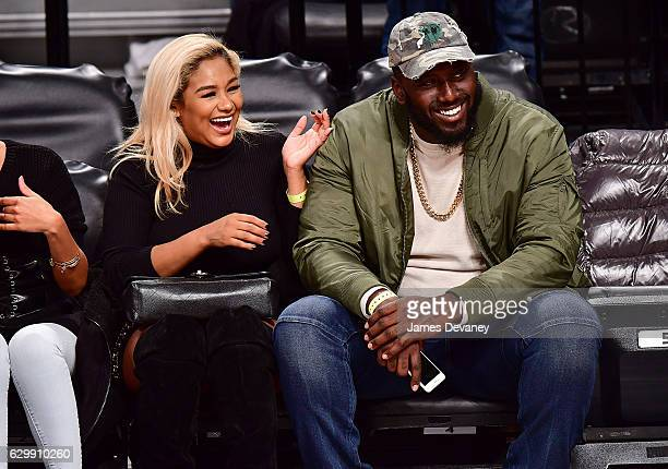 Muhammad Wilkerson attends Brooklyn Nets vs Los Angeles Lakers game at Barclays Center on December 14 2016 in New York City