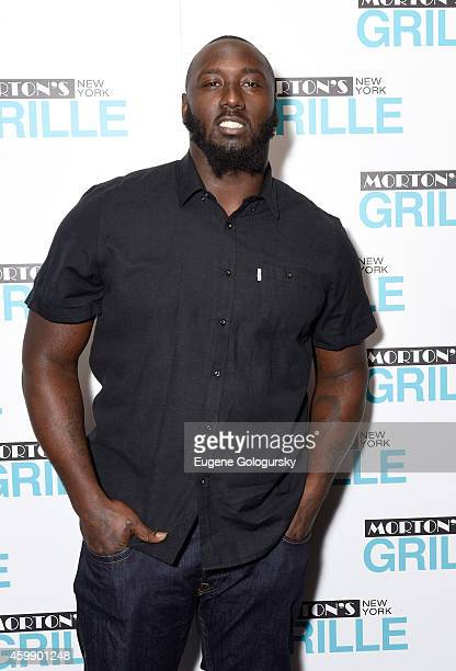 Muhammad Wilkerson attends the Morton's Grille Grand Opening Celebration on December 2 2014 in New York City