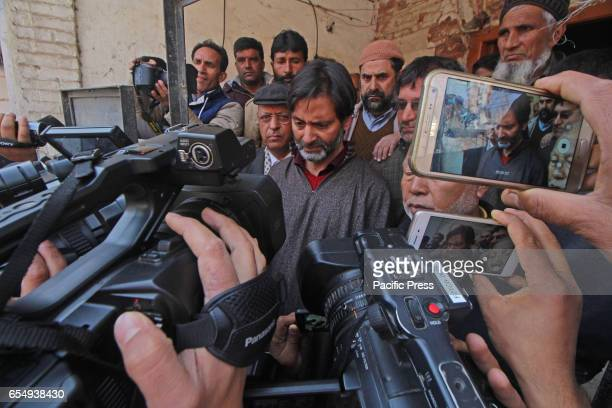 Muhammad Yasin Malik interaction with media before arrest Malik had appealed people to boycott Indian polls that are being conducted in Kashmir on 9...