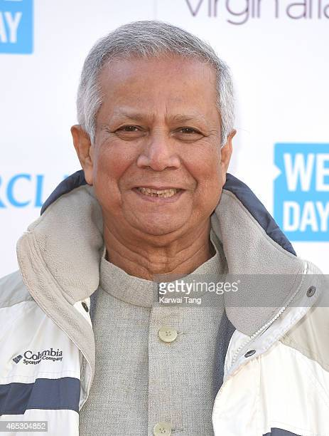 Muhammad Yunus attends We Day UK at Wembley Arena on March 5 2015 in London England