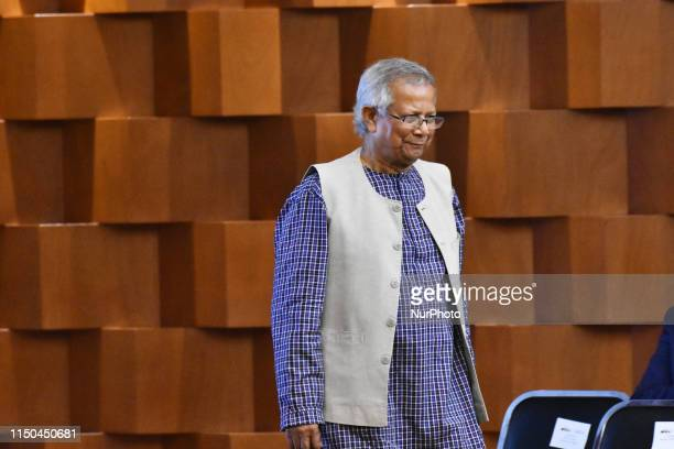 Muhammad Yunus Nobel Peace Prize during The 2030 Agenda for Sustainable Development media meeting at Ministry of Foreign Affairs on June 17 2019 in...