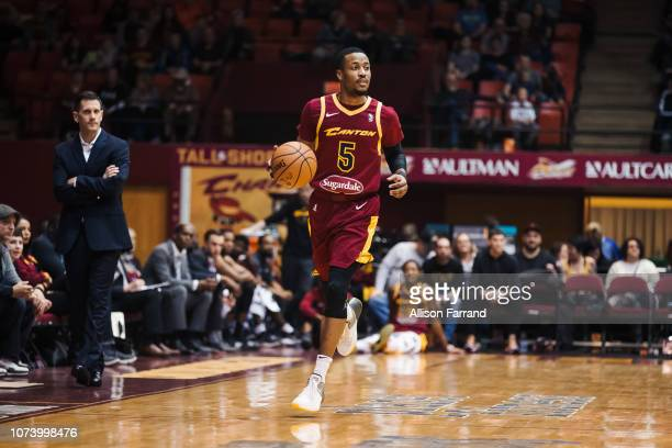 MuhammadAli AbdurRahkman of the Canton Charge brings the ball up court against the Greensboro Swarm on December 15 2018 at the Canton Memorial Civic...