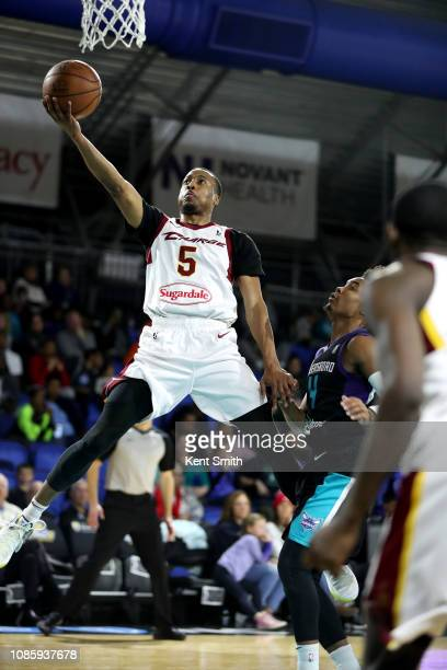 MuhammadAli AbudrRahkman of the Canton Charge shoots the ball against the Greensboro Swarm on January 21 2019 at Greensboro Coliseum Fieldhouse in...