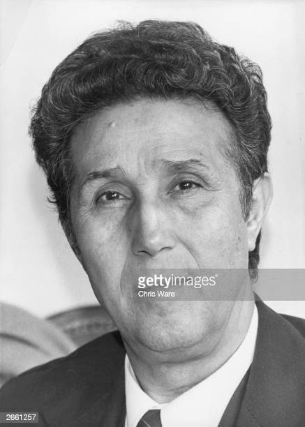 Muhammed Ahmed Ben Bella founder of the Algerian National Liberation Front who embarked on a long war which led to Algeria's independence and Ben...
