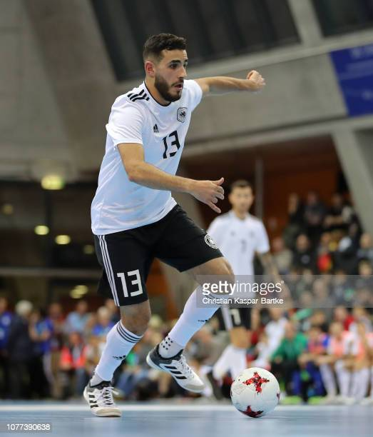 Muhammet Soezer of Germany in action during the Futsal match between Germany  and Switzerland on December 62808a854a65a