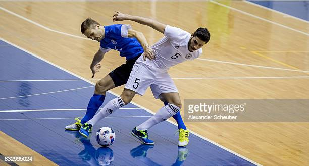 Muhammet Soezer of Germany in action during the UEFA Futsal European Championship Qualifying match between Estonia and Germany at on January 29 2017...