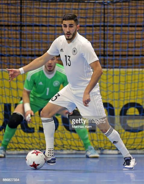 Muhammet Soezer of Germany runs with the ball during the Futsal  international friendly match between Germany 38c90fce736e1