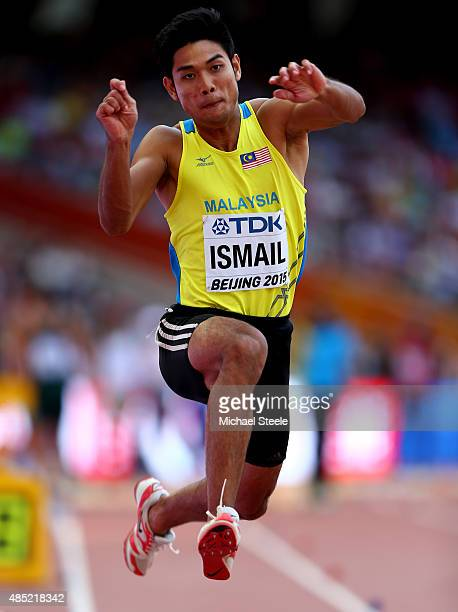 Muhd Hakimi Ismail of Malaysia competes in the Men's Triple Jump qualification during day five of the 15th IAAF World Athletics Championships Beijing...