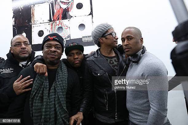 Muhhamad Islam of Zulu Nation Jarobi White Consequence QTip and Ali Shaheed Muhammad attend Tribe Called Quest 'We Got It From Here' Pop Up Shop on...