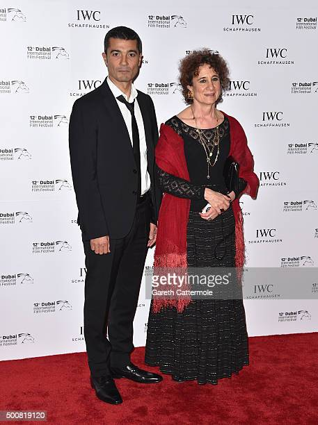 Muhr Feature Jury members Khaled El Nabawy and Maysoon Al Pachachi attend the IWC Filmmakers Award during day two of the 12th annual Dubai...