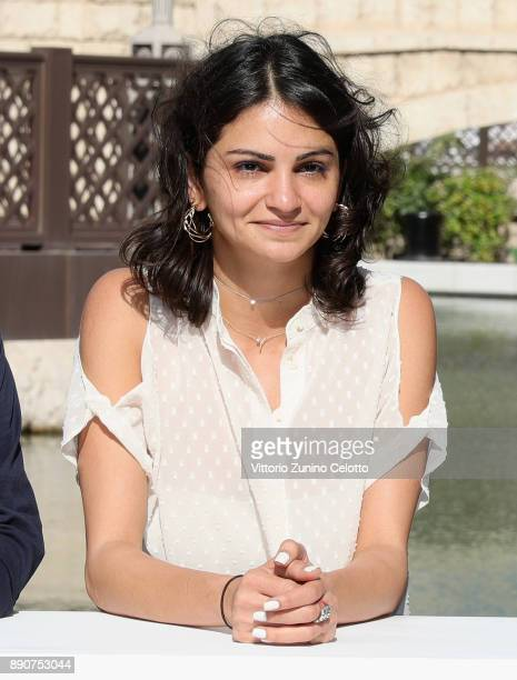Muhr Short and Gulf Short jury member Ahd Kamel attends the Jury photocall on day seven of the 14th annual Dubai International Film Festival held at...
