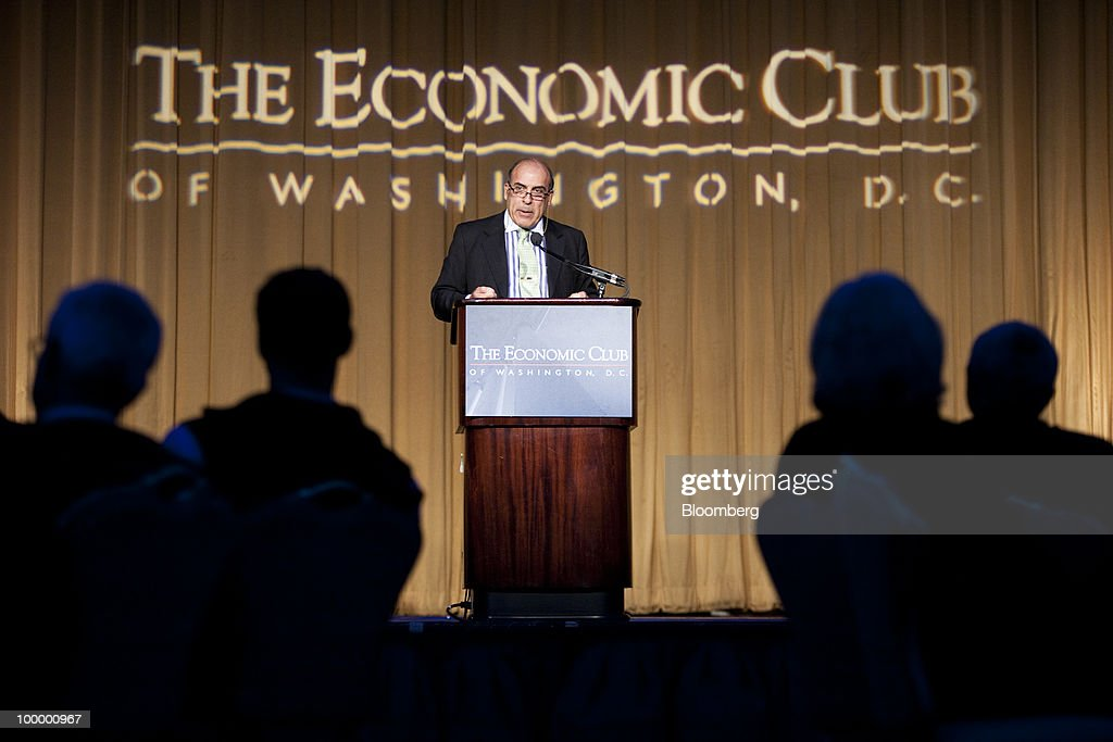 Muhtar Kent, chairman and chief executive officer of Coca-Cola Co., speaks at a meeting of the Economic Club of Washington, D.C., in Washington, D.C., U.S., on Wednesday, May 19, 2010. Kent helped present scholarships of $5,000 each to 38 local students. Photographer: Brendan Hoffman/Bloomberg via Getty Images