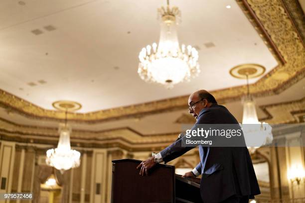 Muhtar Kent chairman of the CocaCola Co speaks during an Executives Club Of Chicago luncheon in Chicago Illinois US on Wednesday June 20 2018 Kent...