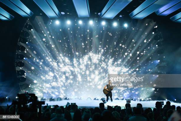 Muireann McDonnell of Ireland performs during Junior Eurovision Song Contest 2017 at New Sports Palace on November 26 2017 in Tbilisi Georgia