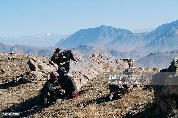 Mujahideen artillery on the battle front to the north of Kabul The city was seized by the Taliban on October 27 1996 | Location North of Kabul...