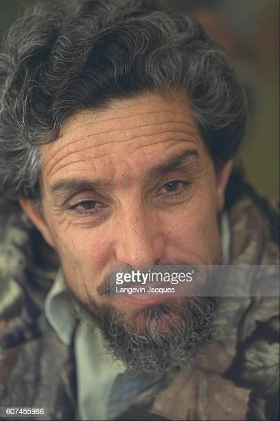 Mujahideen commander Ahmad Shah Massoud Defense Minister of Afghanistan and leader of the Northern Alliance | Location Anaba Panjshir Province...