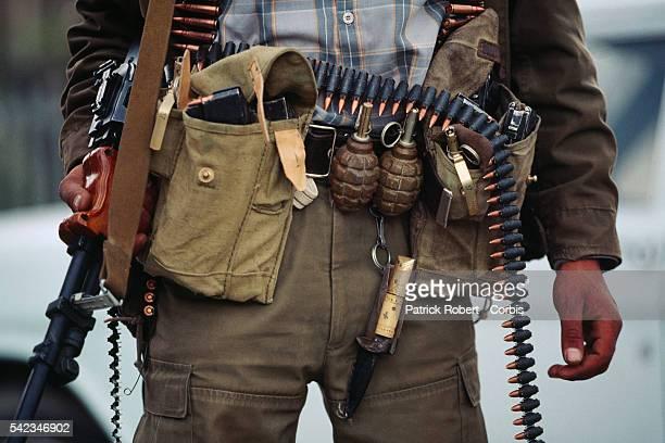 Mujahideen weapons Led by Ahmad Shah Massoud the mujahideen entered Kabul on April 29