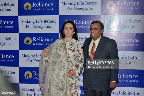 Mukesh Ambani and Nita Ambani at Reliance Industries' 41st Annual General Meeting in Mumbai