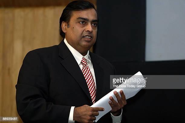 Mukesh Ambani, Chairman and MD, Reliance Industries Limited , Delhi, India.