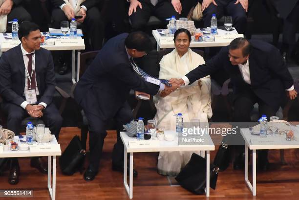 Mukesh Ambani Chairman and MD Reliance Industry Limiter Shake hand to Lakshmi Mittal CEO of ArcelorMittal Lakshmi Niwas Mittal is an Indian steel...