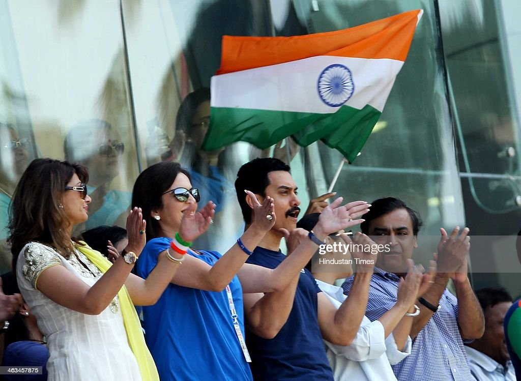 Mukesh Ambani, Kiran Rao, Aamir Khan, Nita Ambani and Sunanda Pushkar cheer during the India vs Sri Lanka ICC World Cup final match on April 2, 2011 in Mumbai, India. Sunanda Pushkar, the 52-year-old industrialist wife of Union HRD minister Shashi Tharoor was found dead on Friday at a seven-star hotel where the couple had checked in together a day earlier, the police said. News of her death emerged late in the evening, coming within two days of her Twitter spat with a Pakistani journalist, Mehr Tarar, over an alleged affair with the minister. Pushkar, who has business interests in Dubai and was the Congress minister's third wife, was found dead in the bedroom of The Leela Palace suite number 345 around 8.15pm. Mehr Tarar, a columnist with Pakistan's Daily Times, reacted to the news of Pushkar's death in two consecutive tweets: What the hell. Sunanda. Oh my God and I just woke up and read this. Im absolutely shocked. This is too awful for words. So tragic I dont know what to say. Rest in peace, Sunanda.