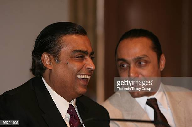 Mukesh Ambani with actor Rahul Bose during the release of Dr RK Pachauri's book 'Return to Almora' in Mumbai on Friday January 8 2010
