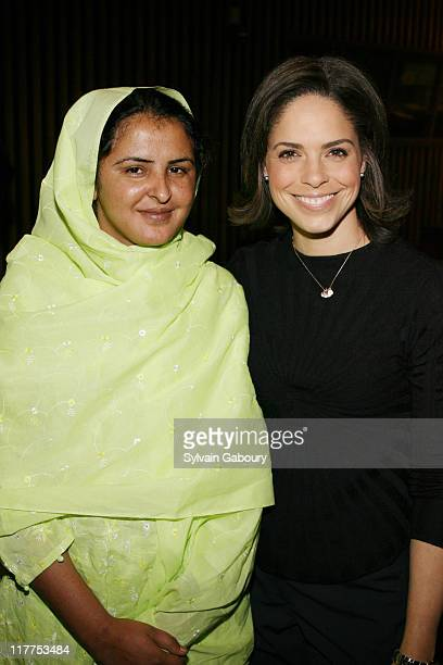 Mukhtar Mai and Soledad O'Brien during The Virtue Foundation hosted a Mukhtar Mai interview by CNN's Soledad O'Brien at United Nations in New York...