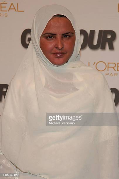 Mukhtar Mai honoree during Glamour Magazine Salutes The 2005 Women of the Year Arrivals at Avery Fisher Hall in New York City New York United States