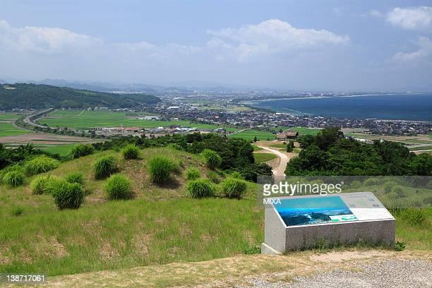 Mukibanda Iseki and Yumigahama Beach, Daisen, Tottori, Japan