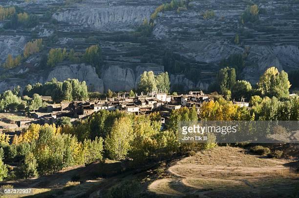 Muktinath village below town
