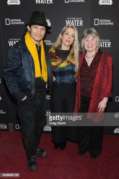 Mukunda Angulo Crystal Moselle and Susanne Angulo attend the Stella Artois and National Geographic world premiere of Our Dream Of Water documentary...