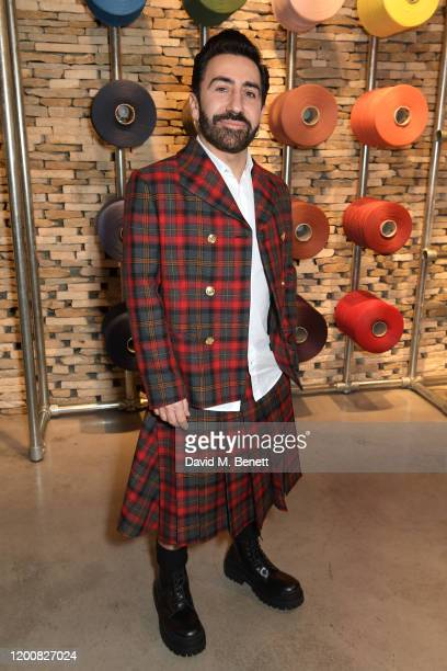 Mulberry Creative Director Johnny Coca attends the Mulberry Made to Last dinner on February 14 2020 in London England