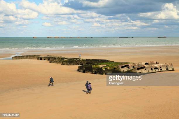Mulberry harbour in Arromanches