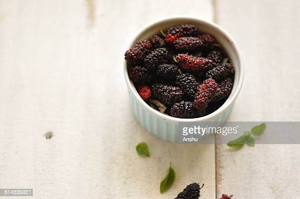 Mulberry on a white background
