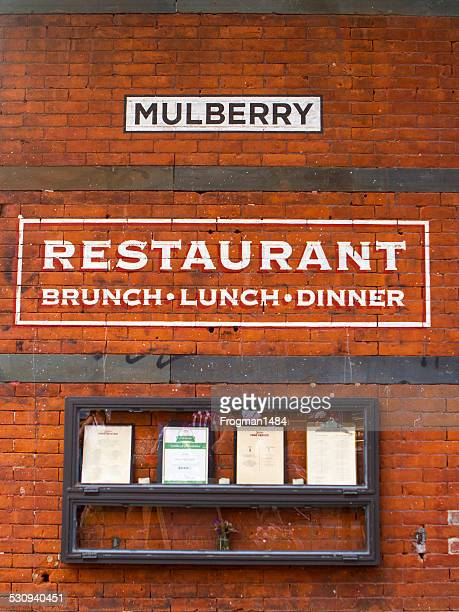 mulberry restaurant - mulberry street stock pictures, royalty-free photos & images