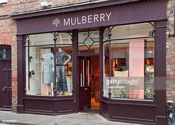 Mulberry shop window, York, England.